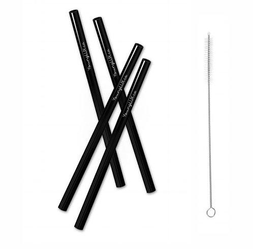 Ensemble de 4 pailles réutilisable & 1 nettoyeur - YoungLUX