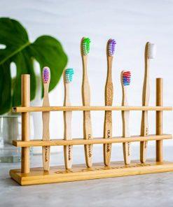 Porte-brosses à dents / 6 trous - OLA Bamboo