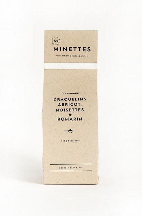 Craquelins abricot, noisettes & romarin - Les Minettes