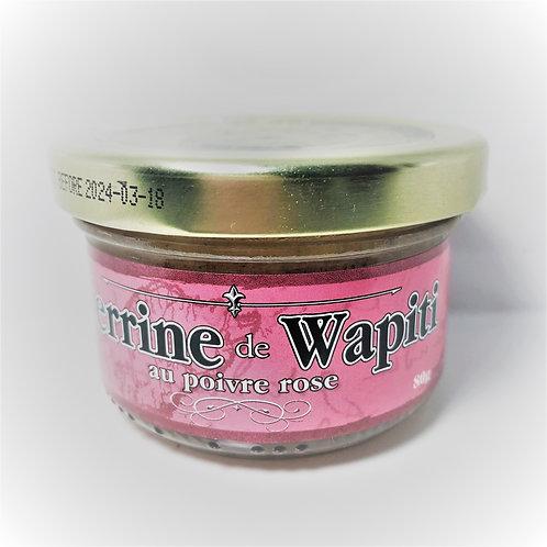 Terrine de Wapiti au poivre rose