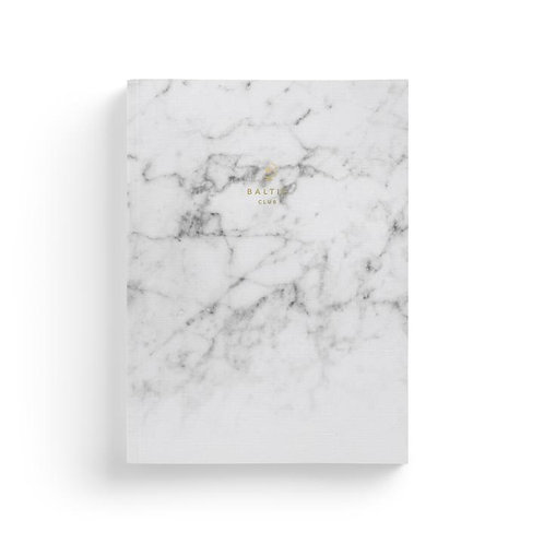 Carnet Marbre blanc / Baltic Club