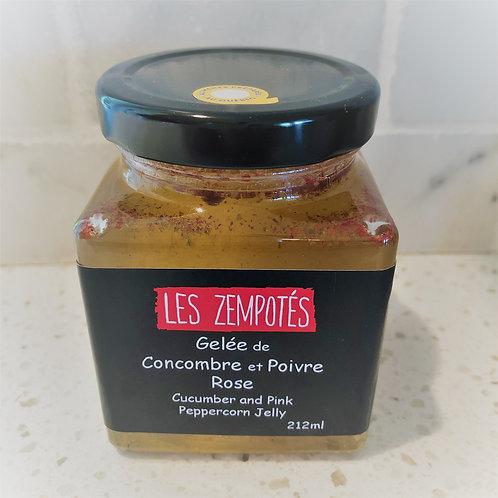 Gelée de concombre & Poivre Rose - LES ZEMPOTÉS