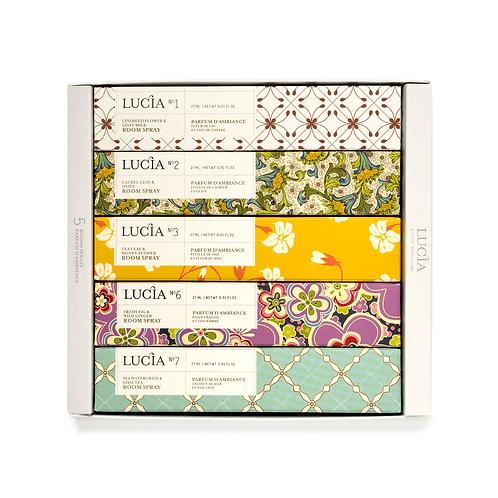 Coffret # 1 Lucia - Assortiment de parfums d'ambiances