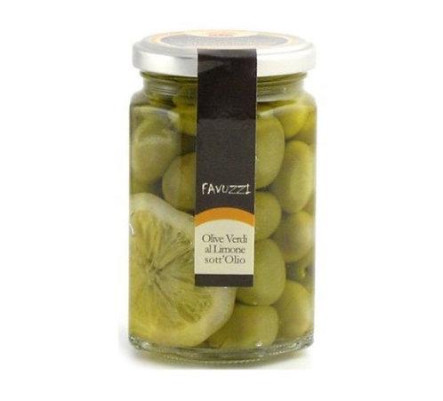 Olives vertes au citron dans l'huile / Favuzzi