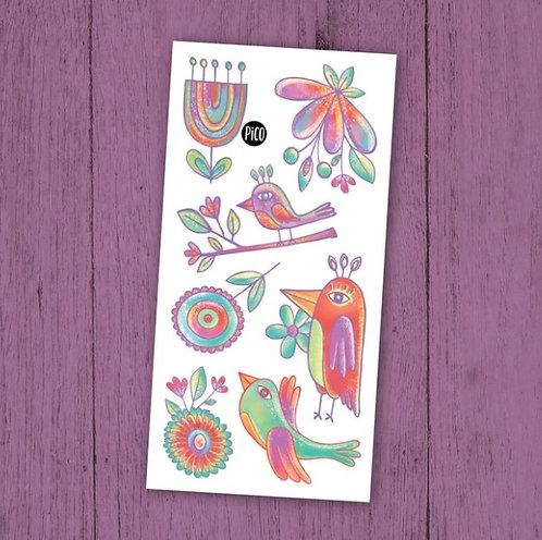 Les merveilleux oiseaux - PICO Tatoo
