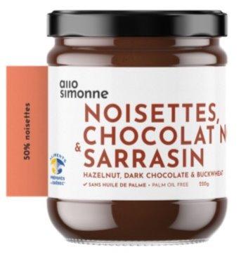 Allo Simonne - Noisettes, chocolat noir & sarrasin