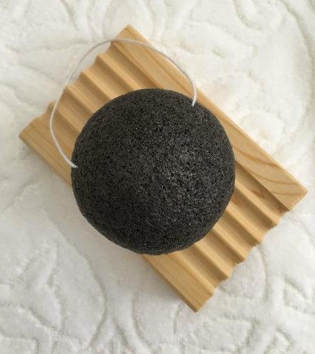 Éponge Konjac - Charbon noir activé