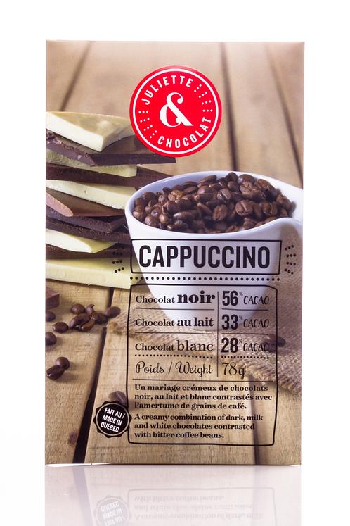 Tablette 3 chocolats au cappuccino - Juliette & Chocolat