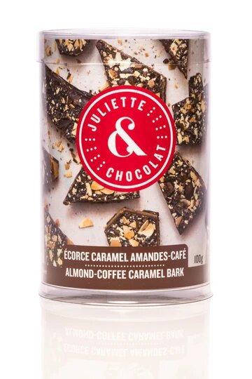 Écorces chocolat noir 55%, amandes & Café - Juliette & Chocolat