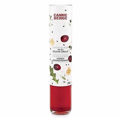 Vinaigrette canneberge, miel & sésame grillé - CANNE BERGE