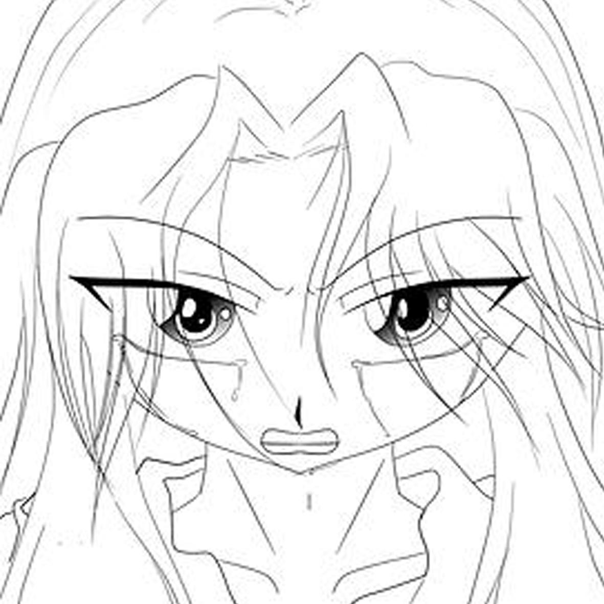 Expresion enojo chica anime