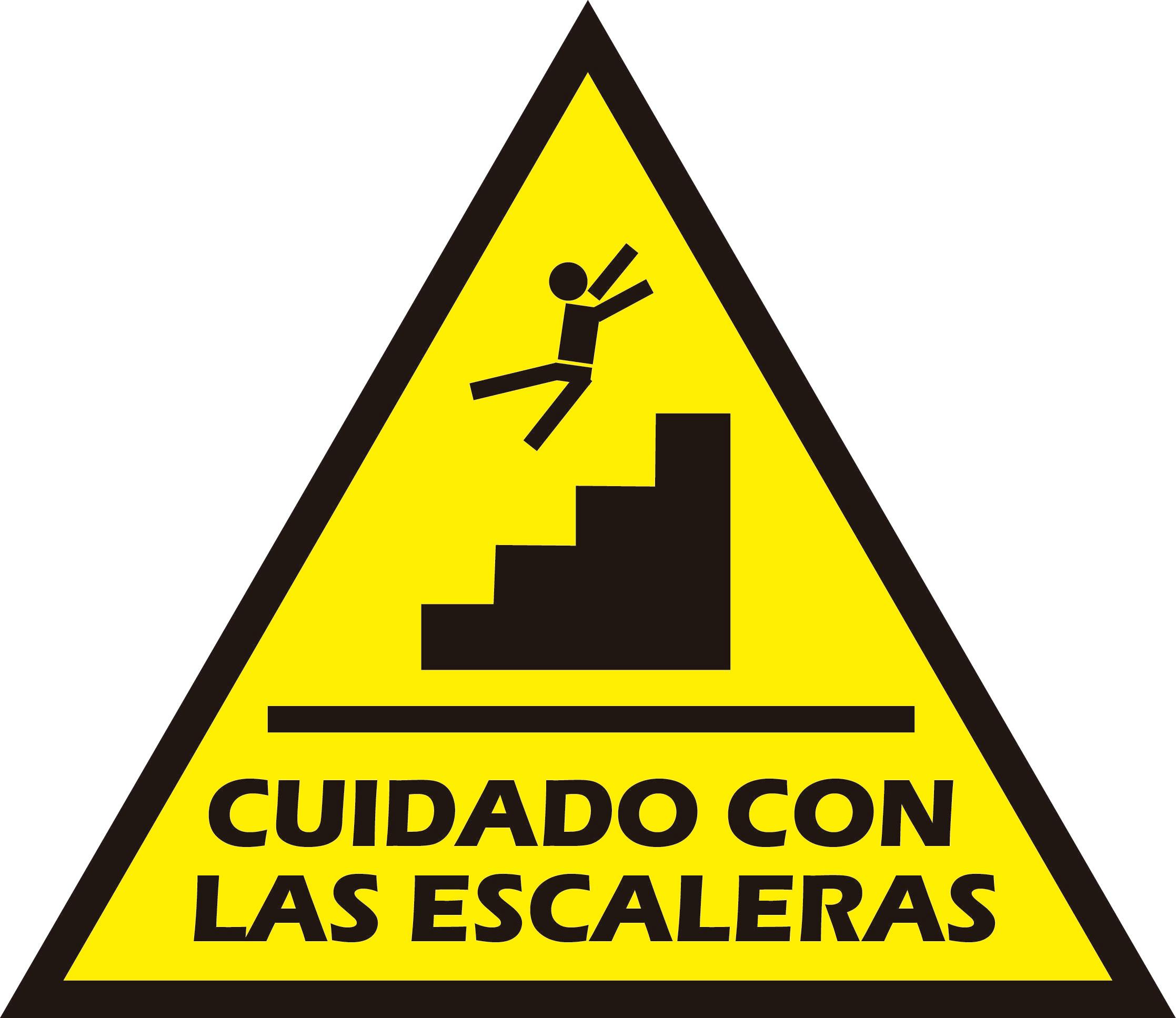 cuidado con las escaleras