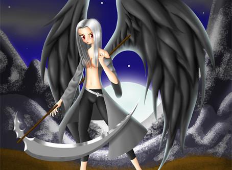 Angel Negro   Ilustración Digital