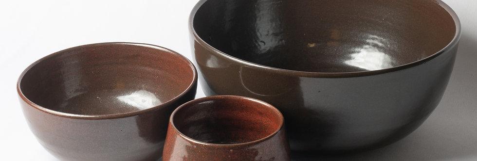 Conjunto 3 Bowls - Esmaltes Tenmoku - ATPUTE002