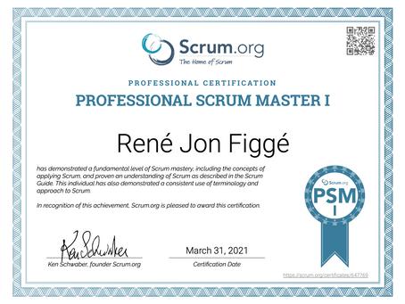 Bestået eksamen som Professional Scrum Master I