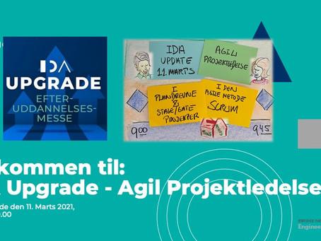 IDA update webinar om Agil ProjektledelseI forbindelse med IDA Update efteruddannelsesmesse