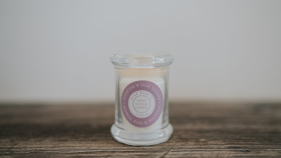 Small glass candles