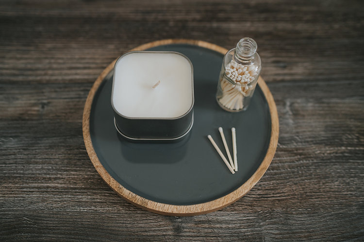White Cottage Candles High Resolution (5
