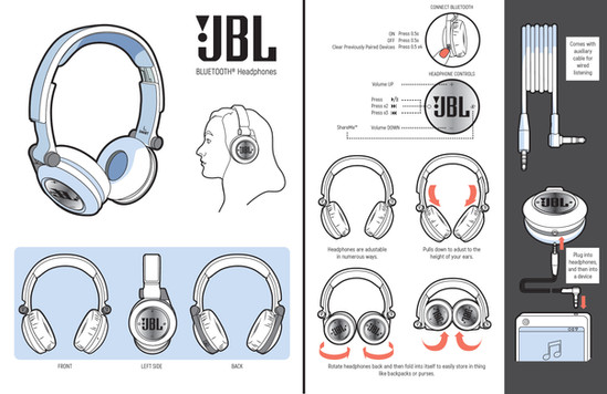 Mock Headphones Pamphlet