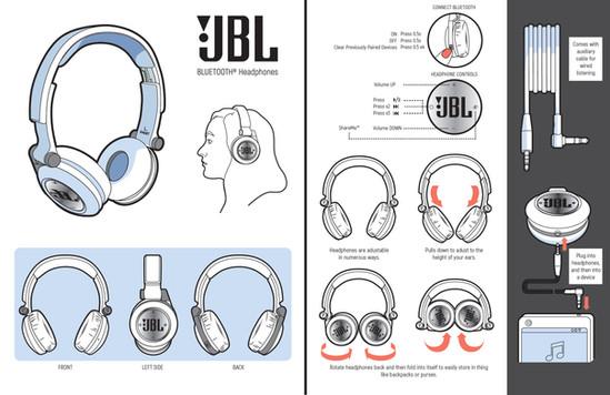 Mock Headphones Pamphlet