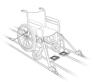 Manual Wheelchair Strapped