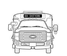 Wheel Trans Friendly Bus Front