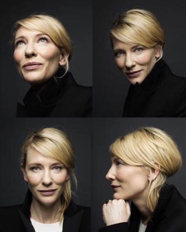 Making faces with #cateblanchett From a shoot a while ago with me on #makeup and _keirenstreethair o