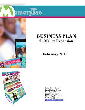 SBA Business Plan for a restaurant