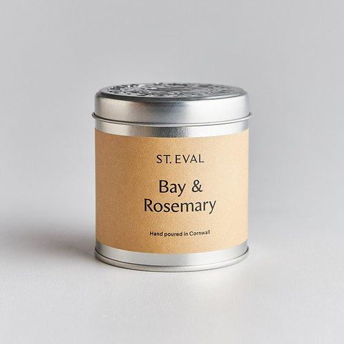 Bay & Rosemary Scented Candle (in Tin)