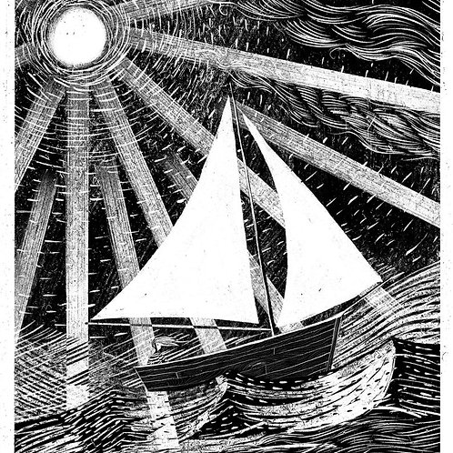 Nocturne Boat A3 Print by Jago Silver