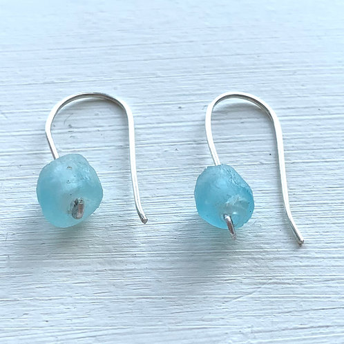 Recycled Glass Ball Earrings