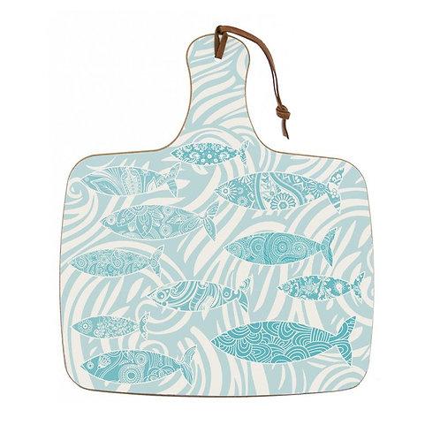 Shoal of Fish Chopping Board - Aqua Melamine