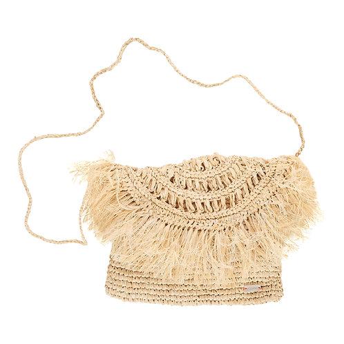 Pale Grass Woven Shoulder Bag