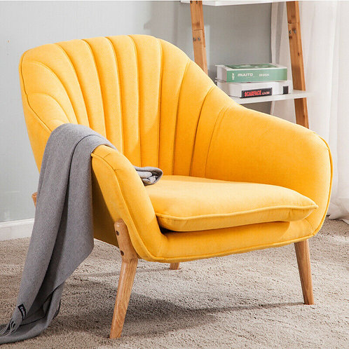 Scalloped Wingback Armchair- That Yellow Chair!