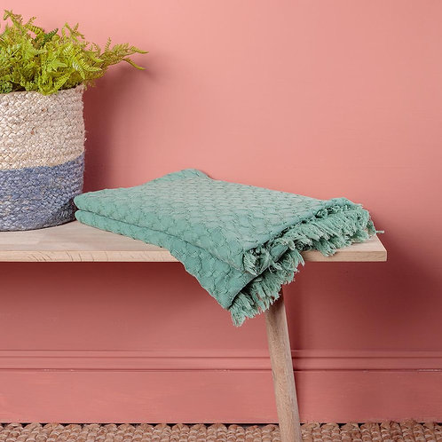 Cotton Throw (Mint or Coral)