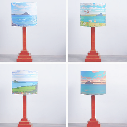 St Michael's Mount Art Lampshades by Theresa Shaw