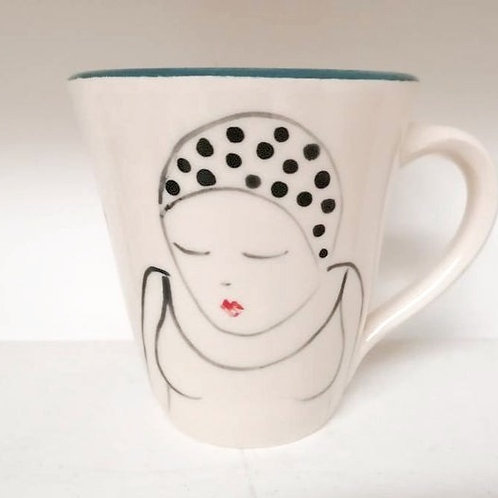 Blue Swimmer Mug by Lucie Sivicka
