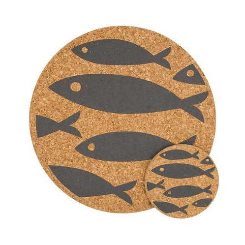 Grey Fish Coaster