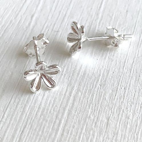 Silver Blossom  Stud Earrings