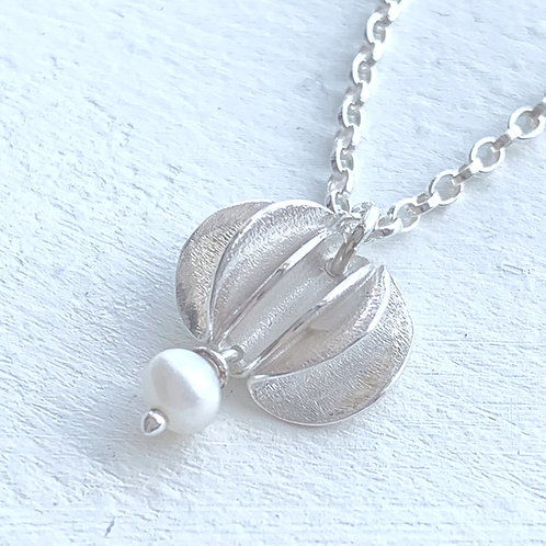 Cadgwith Cove Waves Silver Necklace