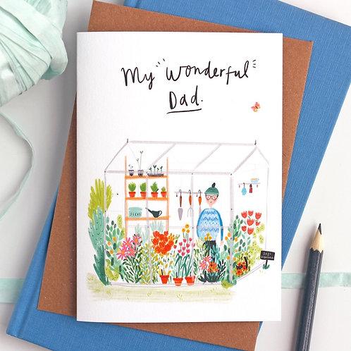 My Wonderful Dad Card by Katy Pillinger