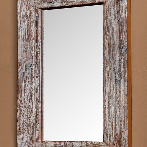 Vintage Wooden Rectangular Mirror (Blue or White)   Click & Collect Only *see de