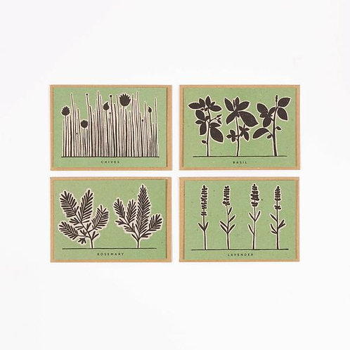 Herb Recipe Notecards- Green Set Notelets