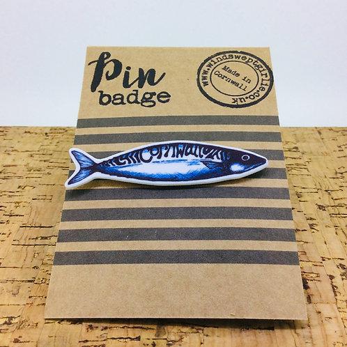 Mackerel Pin Badge