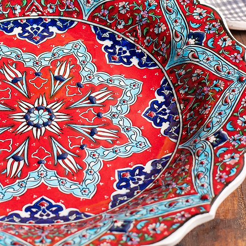 Redhand painted Turkish plate.   Click & Collect Only *see description