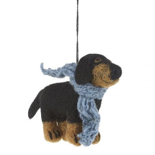 Handmade Needle Felt Dachshund Dog