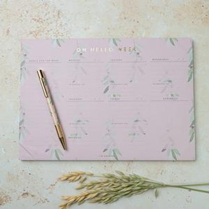 OH HELLO WEEK! DESK PAD