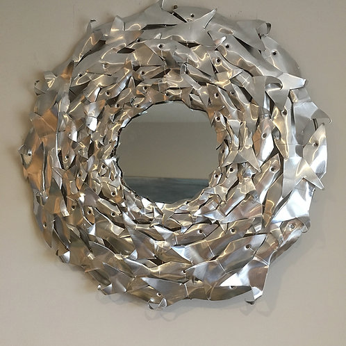 Wall Mirror 'Fish Wreath' 50cm