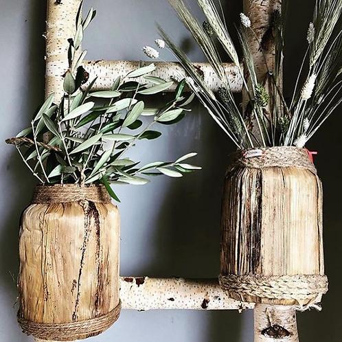 Natural Hanging Plant Pot- Woven Banana Leaf