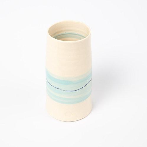 Hand Thrown Pottery Vase – Shoreline Aqua – by Cornish Pots